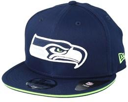 Seattle Seahawks Team Navy Snapback - New Era