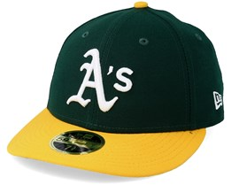 Oakland Athletics Authentic Team Low Profile 59Fifty Green/Yellow Fitted - New Era