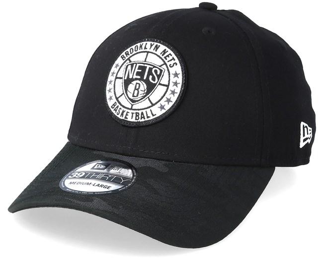 the latest 2c85a 6a2da ... discount code for brooklyn nets tipoff series 39thirty black flexfit new  era caps hatstore 7c46f 6e143