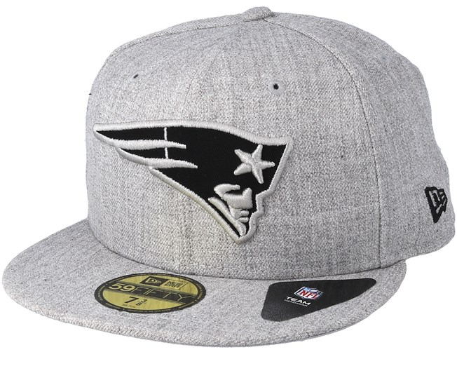 New England Patriots 59fifty Heather Grey Fitted New Era Cap