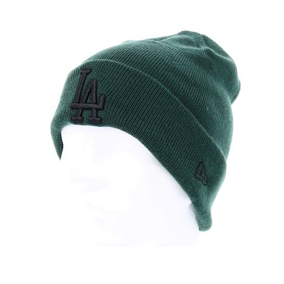 more photos a905d 46c31 Los Angeles Dodgers League Essential Knit Green Black Cuff - New Era muts    Hatstore.nl