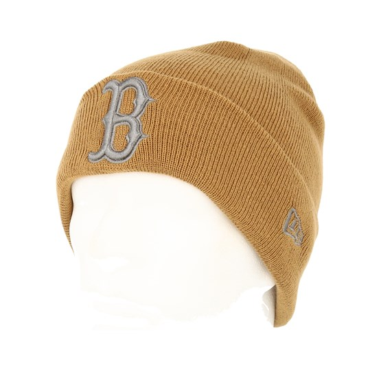 7d0ac235a49 Boston Red Sox League Essential Knit Camel Grey Cuff - New Era beanies