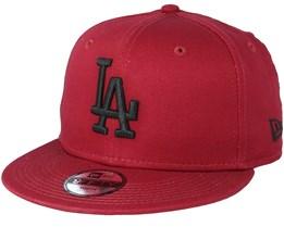 Kids Los Angeles Dodgers League Essential 9Fifty Cardinal Black Snapback - New  Era 356990e6d759