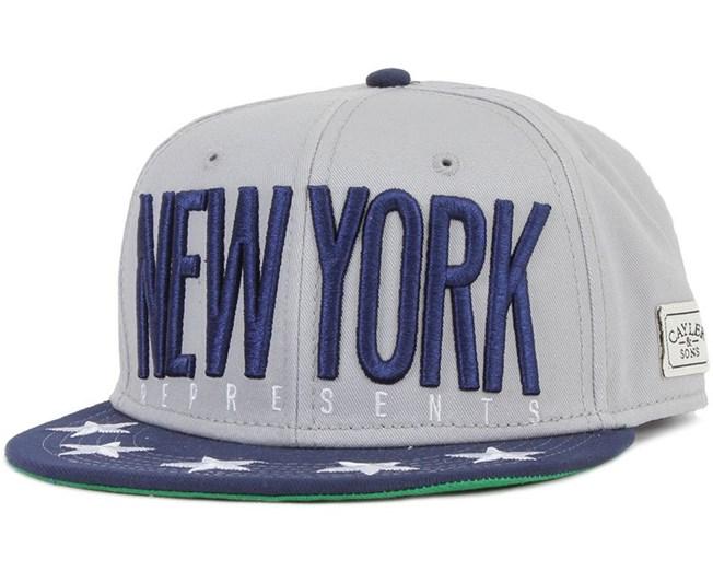 NY City Grey/Navy/White Snapack - Cayler & Sons