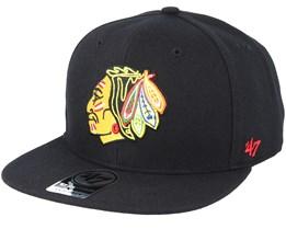 Chicago Blackhawks Sure Shot Black Snapback - 47 Brand 13855aff97