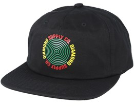 Diamond Spiral Black Snapback - Diamond