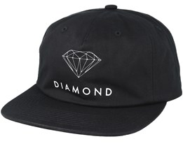 Futura Sign Unconstructed 5-Panel Black Snapback - Diamond