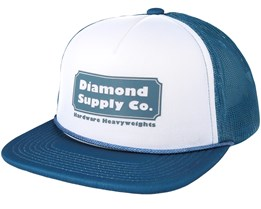 Hardware Trucker Navy Snapback - Diamond