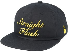 Straight Flush Unconstructed Black Strapback - Diamond