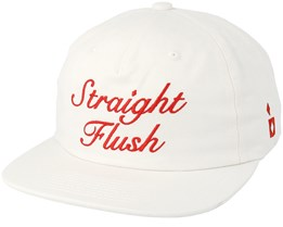 Straight Flush Unconstructed White Strapback - Diamond