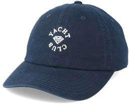 Yacht Club Sports Hat Black Adjustable - Diamond