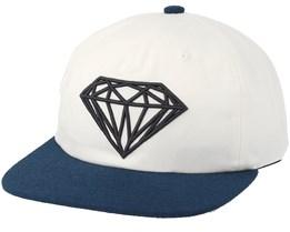 Brilliant Two-Tone Unconstructed White Snapback - Diamond