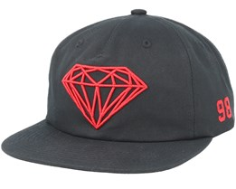 Brilliant Black Snapback - Diamond