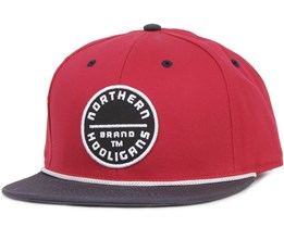 The Circle Brand Snapback Red/Navy - Northern Hooligans