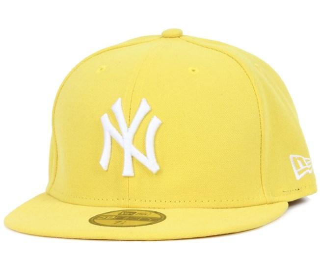 NY Yankees MLB Basic Yellow/White 59Fifty - New Era