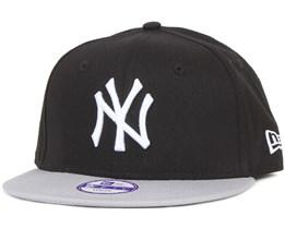 Kids NY Yankees MLB Cotton Black/Gray 9Fifty - New Era