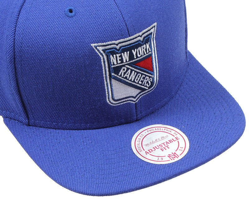 ny rangers wool solid snapback mitchell ness cap. Black Bedroom Furniture Sets. Home Design Ideas