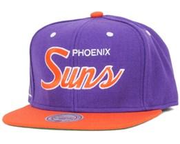Phoenix Suns NBA 2 Tone Script Snapback - Mitchell & Ness