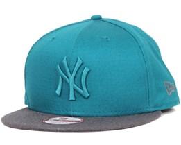 NY Yankees Pop Tonal Teal/Heather Graphite 9Fifty Snapback - New Era