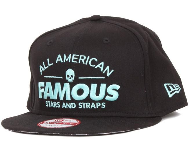 American Fame Snapback Black - Famous