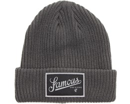 Union Textured Beanie Charcoal - Famous