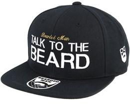 Talk To The Beard Black Snapback - Bearded Man