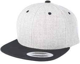 Kids Heather/Black Snapback - Yupoong
