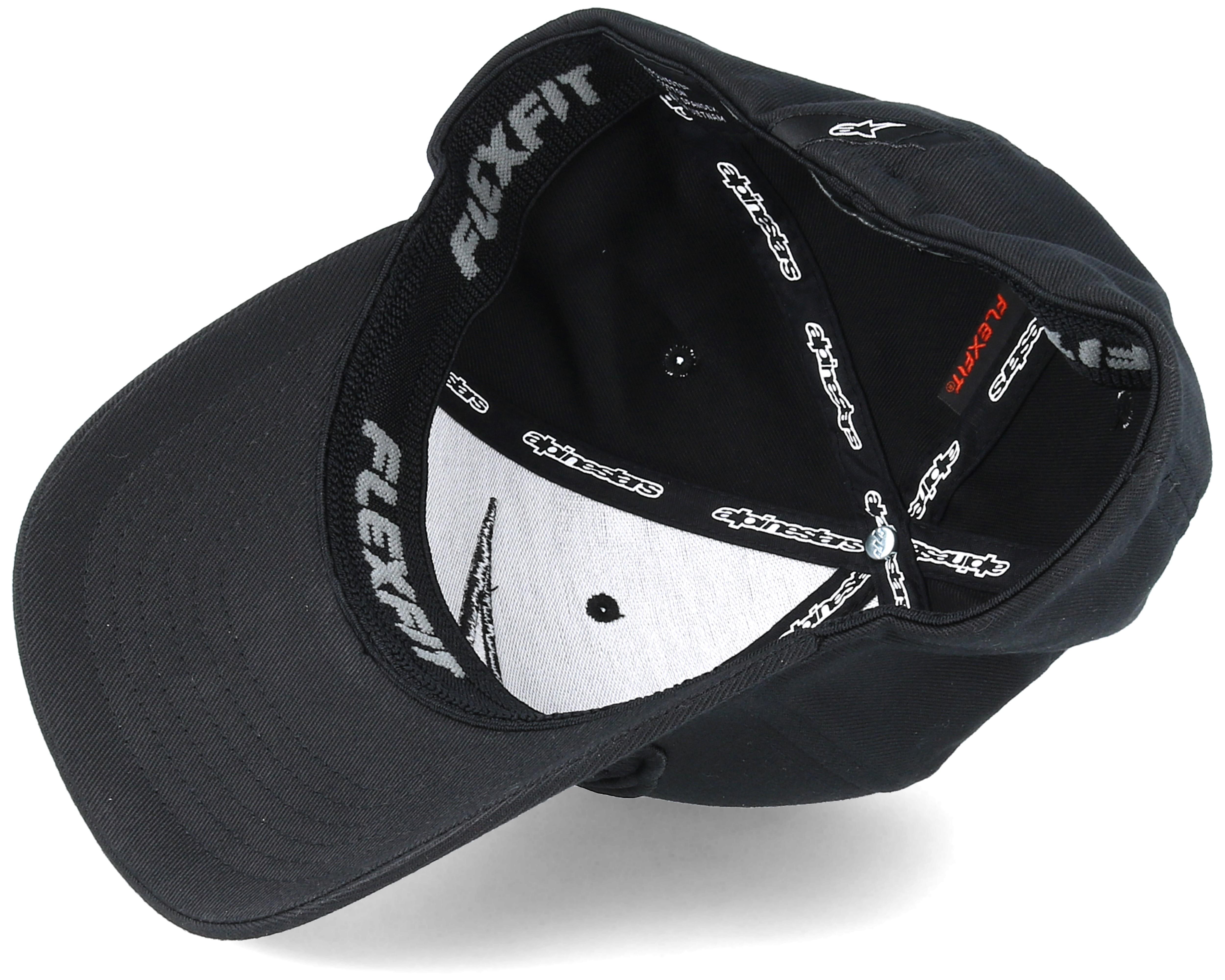 astar logo blackblack flexfit alpinestars
