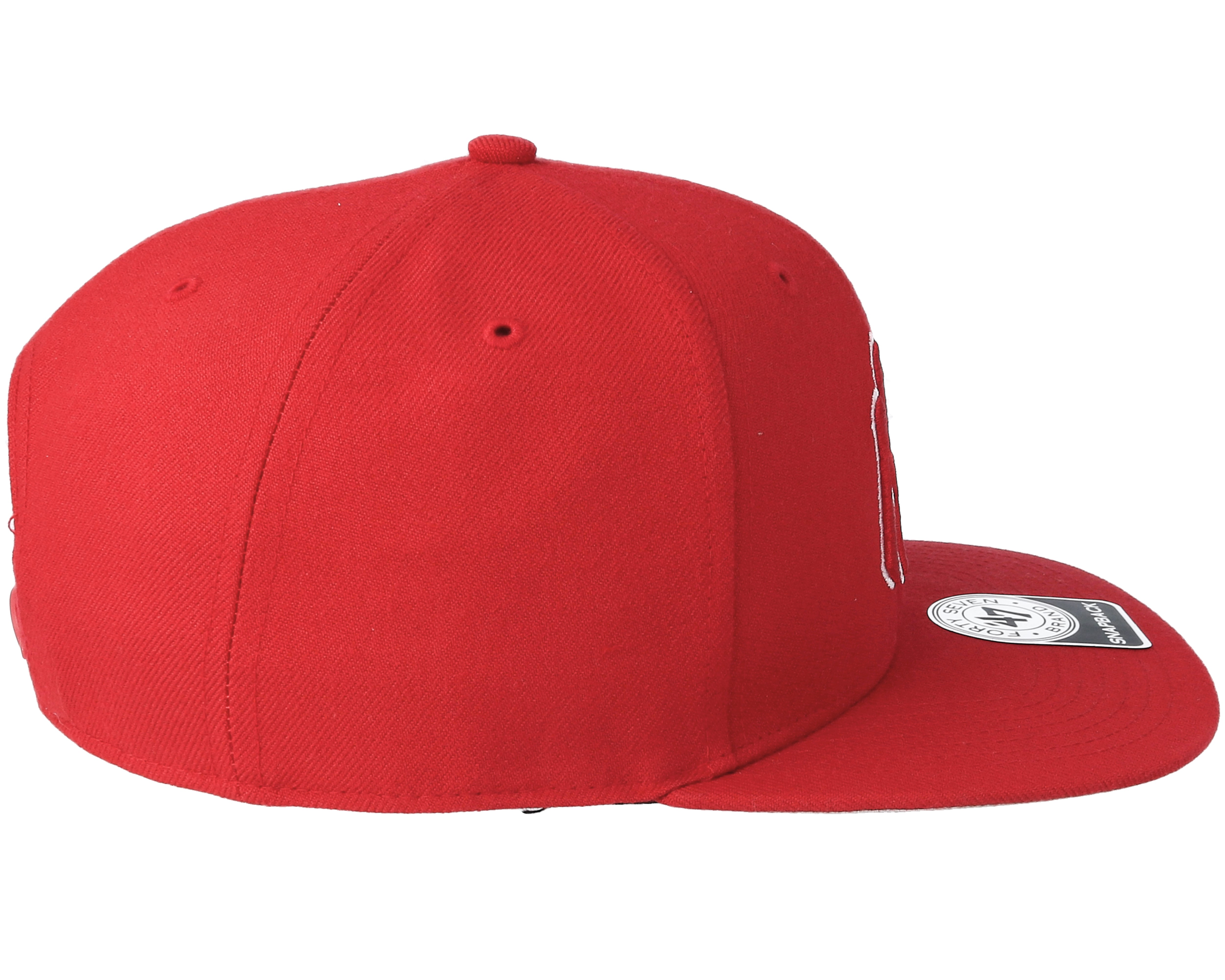 NY Yankees No Shot Red/Red Snapback - 47 Brand caps | Hatstore.co.uk