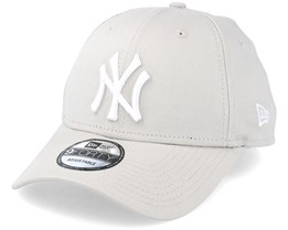 NY Yankees League Essential Stone/White 940 Adjustable - New Era