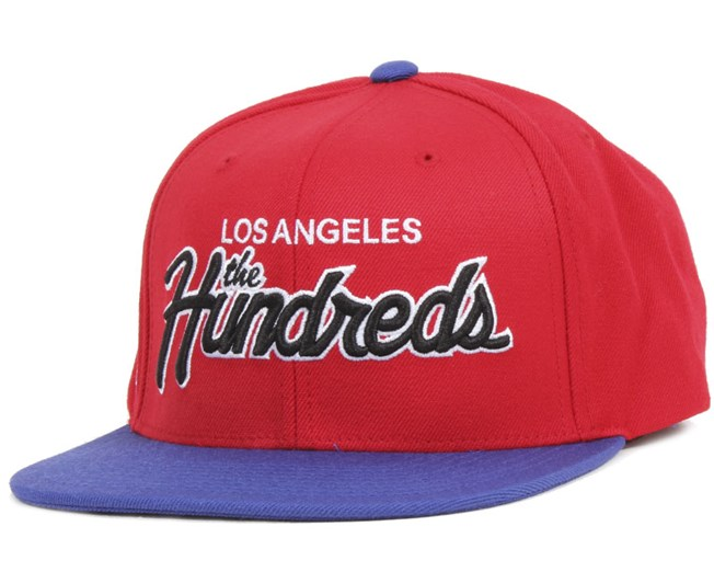 Team Two Snapback Red - The Hundreds
