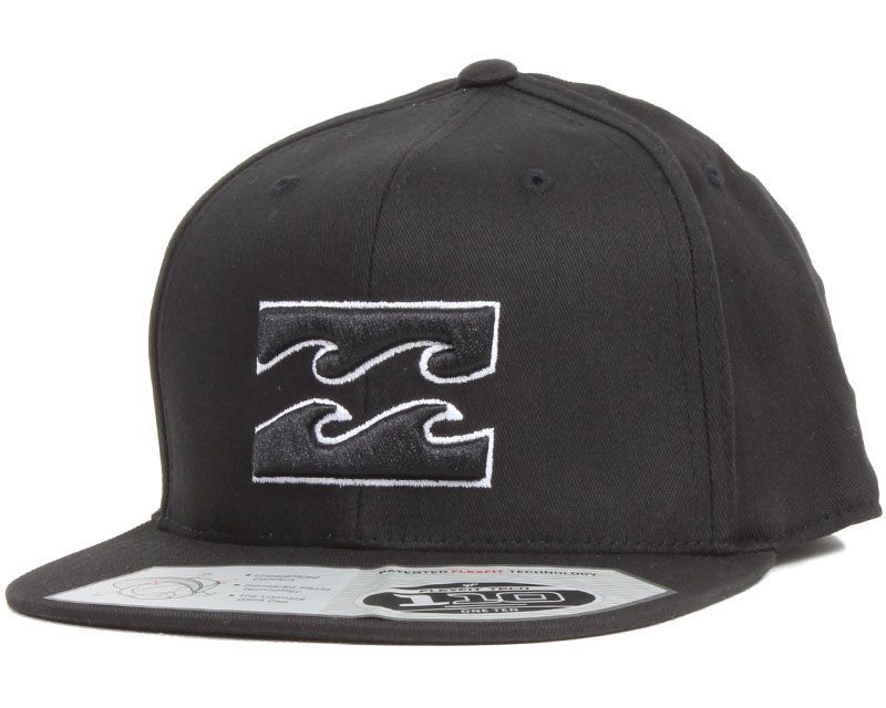 all day 110 black white snapback billabong casquette. Black Bedroom Furniture Sets. Home Design Ideas