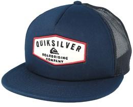 Jetty Grind Dark Blue trucker Snapback - Quiksilver