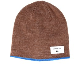 Kids Reversible Beanie Youth Brown Beanie - Quiksilver