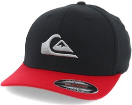 Mountain And Wave Black/Red Flexfit - Quiksilver