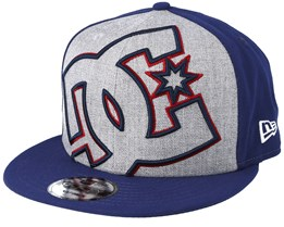 Double Up Grey/Navy Snapback - DC