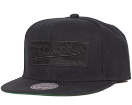 2 Tone Label Black/Black Snapback - Mitchell & Ness