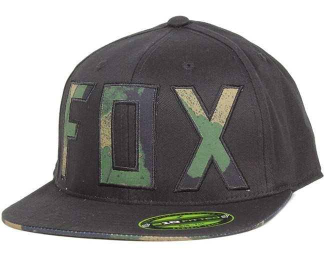 Carnage Camo Black Fitted - Fox