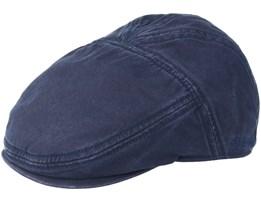 Ivy Cap Cotton Navy Flatcap - Stetson