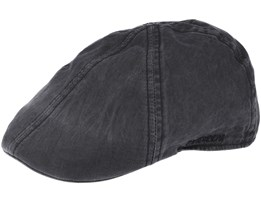 Texas Organic Cotton Dark Grey Flat Cap - Stetson