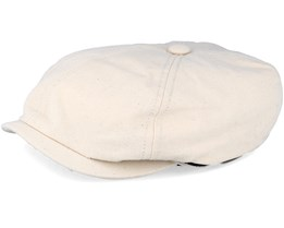 6-Panel Canvas Beige Flat Cap - Stetson