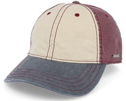 Baseball Cotton Beige/Burgundy/Navy Adjustable - Stetson