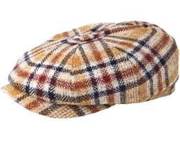 Hatteras Woolrich Check Brown Flat Cap - Stetson
