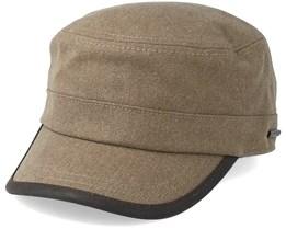 Hatteras Pigskin Khaki Flat Cap - Stetson