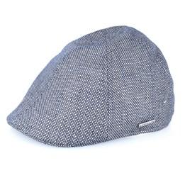 0daaabf419c Ivy Cap Linen Fischgrat Flatcap - Stetson caps