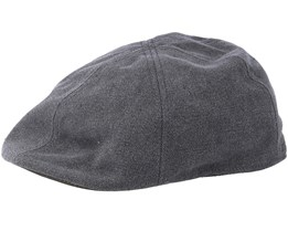 Texas Canvas Black Flat Cap