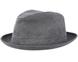 Player Delave Organic Cotton Charcoal Fedora - Stetson