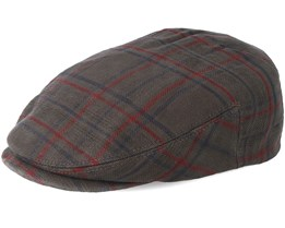 Driver Cotton Cap Check Brown Flat Cap - Stetson