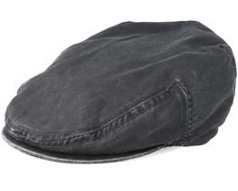 Kent Co/Pe Black Flat Cap - Stetson