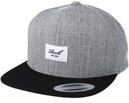 Pitchout 6-Panel Grey/Black Snapback - Reell